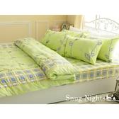 #B017#100%純棉5x6.2尺雙人床包+枕套三件組(不含被套)*台灣製