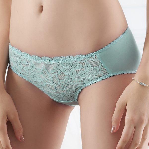 EASY SHOP-誘香之吻 中腰三角褲(藍灰色)