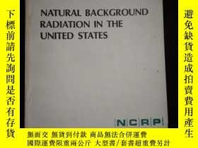 二手書博民逛書店NATURAL罕見BACKGROUND RADIATION IN THE UNITED STATESY1614