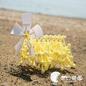 親子玩具-DIY風力仿生風力獸科學新奇拼裝組裝拼插玩具六一兒童節禮物-奇幻樂園