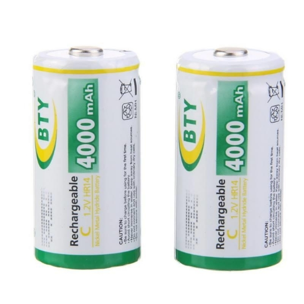 【DQ207】可充電電池2號2入BTY鎳氫電池4000mah熱水器電池★EZGO商城★