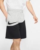 NIKE服飾系列-NSW SWOOSH SHORT FT 男款法國毛圈布短褲 黑灰-NO.BV5310064