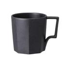 金時代書香咖啡 KINTO OCT 八角陶瓷馬克杯 300ml 黑色 OCT-28886-BK