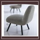 【多瓦娜】低調品味米蘭達休閒椅(淺色) 21152-436008