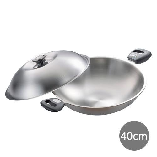 《PERFECT 理想》 極緻316七層複合金炒鍋-40cm雙耳附蓋