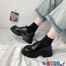 皮鞋 英倫風小皮鞋女日系2021新款厚底黑色單鞋韓版百搭秋冬加絨女鞋 618狂歡