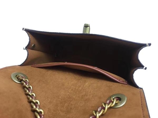 ~雪黛屋~COACH 斜側包超小容量背帶可調整國際正版保證100%防水防刮皮革等10-15日C342561