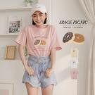 上衣 Space Picnic 甜甜圈圖印短袖T恤(預購)【C21054038】