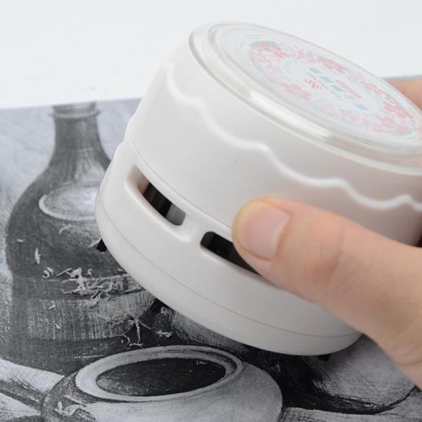 迷你桌面電動吸塵器小型清理吸灰機鉛筆吸橡皮擦屑渣削沫便攜自動清潔神器書桌清掃