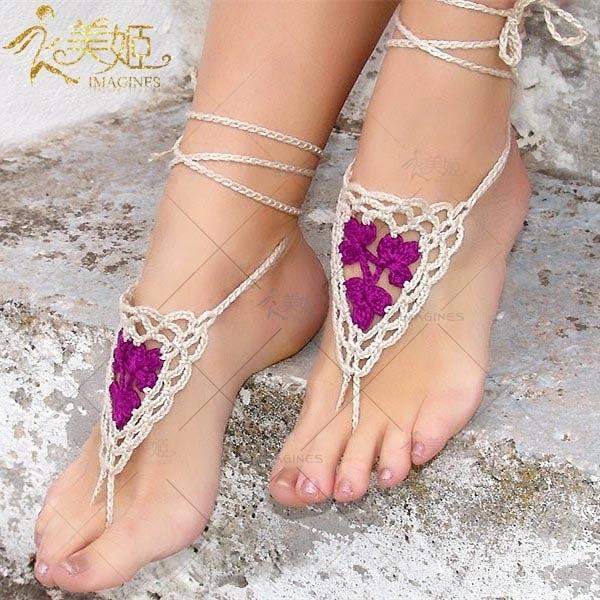 衣美姬♥歐美 編織手工腳鍊 南洋風新娘飾品 沙灘 舞檯表演 腳上飾品 多色可選