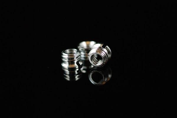 又敗家@銅1/4 螺絲轉3/8 螺絲帽1/4吋轉3/8吋螺轉接環(公:牙轉成粗牙1/4轉3/8螺絲M1/4-M3/8螺絲