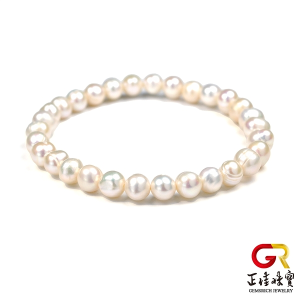 天然淡水珍珠手鍊 高雅珍珠手珠 正佳珠寶