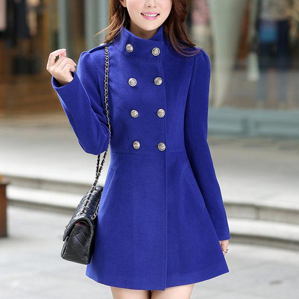 【TU18】毛呢外套 韓版學院風修身呢子大衣 西裝外套 風衣外套6811