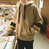 秋季嘻哈連帽T恤男連帽韓版潮流寬鬆學生長袖寬鬆套頭上衣外套男褂子  印象家品旗艦店