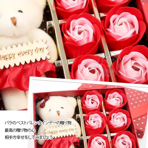 【zoo寵物商城】 小熊玫瑰生日會情人節6朵玫瑰禮盒