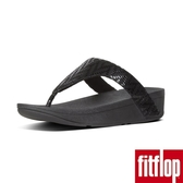 【FitFlop】LOTTIE CHEVRON-SUEDE TOE-THONGS(黑色)