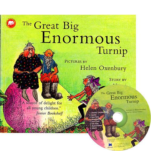 【麥克書店】THE GREAT BIG ENORMOUS TURNIP /英文繪本附CD《傳統故事》