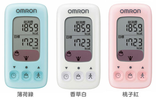 OMRON歐姆龍活動量計HJA-310(湖水綠、桃子紅)