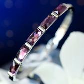 紫玉帶水晶手鐲
