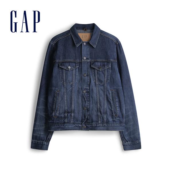 Gap男裝時尚深色水洗牛仔外套565784-深色水洗做舊