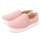 Petite Jolie V型紋厚底休閒鞋-粉紅