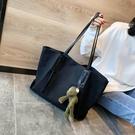 手提包側背包 帆布大包包女2020新款潮韓版時尚百搭單肩手提包大容量包【快速出貨八折搶購】