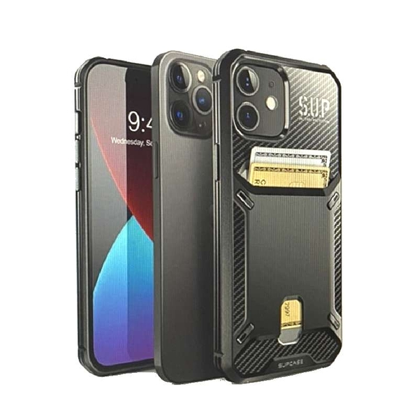 [9美國直購] SUPCASE Unicorn Beetle Vault Series Built-in Card Holder 黑色 for iPhone 12 / iPhone 12 Pro (6.1吋) B08GX8KBRH