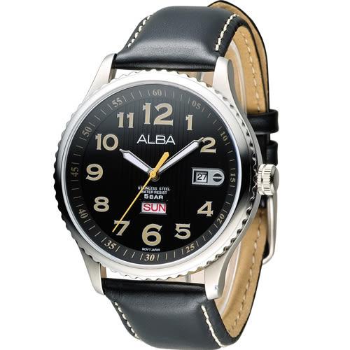 ALBA PRESTIGE 日系休閒石英錶 VJ43-X036C AV3509X1 黑