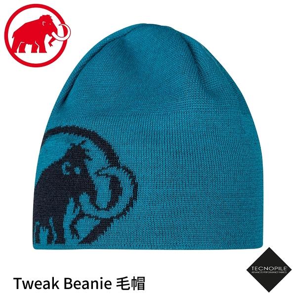【MAMMUT 長毛象 Tweak Beanie毛帽《藍寶石》】1191-01352/登山保暖帽/針織帽