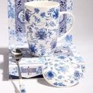陶瓷杯子帶蓋帶湯匙 田園風 溫馨家居...