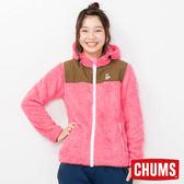 CHUMS 日本 女 Fleece Elmo 兜帽外套 珊瑚紅 CH141078R016