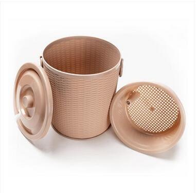 功夫編織藤茶道零配塑料茶水廢水桶Eb14881『小美日記』