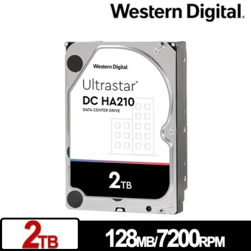 Western Digital WD 威騰 Ultrastar DC HA210 2TB 3.5吋 企業級硬碟