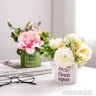 仿真盆栽北歐創意仿真植物盆栽家居客廳室內辦公室電腦桌面裝飾個性小擺 大宅女韓國館