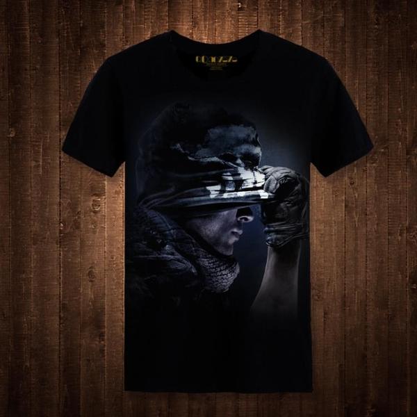 時尚使命召喚t恤夏裝男士t恤 短袖 圓領動漫印花cod游戲周邊上衣