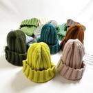 兒童毛線帽款男女童糖果色針織帽韓版可愛百搭寶寶 『洛小仙女鞋』