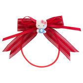 《Sanrio》HELLO KITTY短絨玩偶裝飾緞帶髮束(紅)★funbox生活用品★_743275