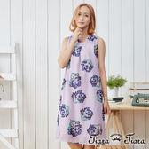 【Tiara Tiara】飽滿果實V領無袖洋裝(紫/卡其)