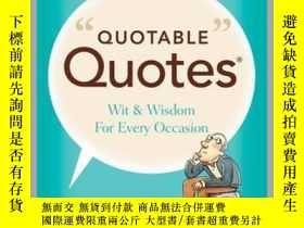 二手書博民逛書店Quotable罕見QuotesY410016 Editors of Reader... Reader s D