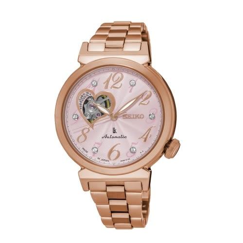 SEIKO LUKIA 時尚品味機械女腕錶/玫瑰金/4R38-01C0K(SSA844J1)