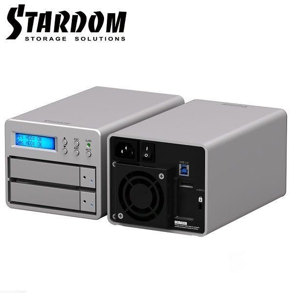 STARDOM SR2-SB3+ 3.5吋USB3.0/eSATA 2bay磁碟陣列(和順電通)
