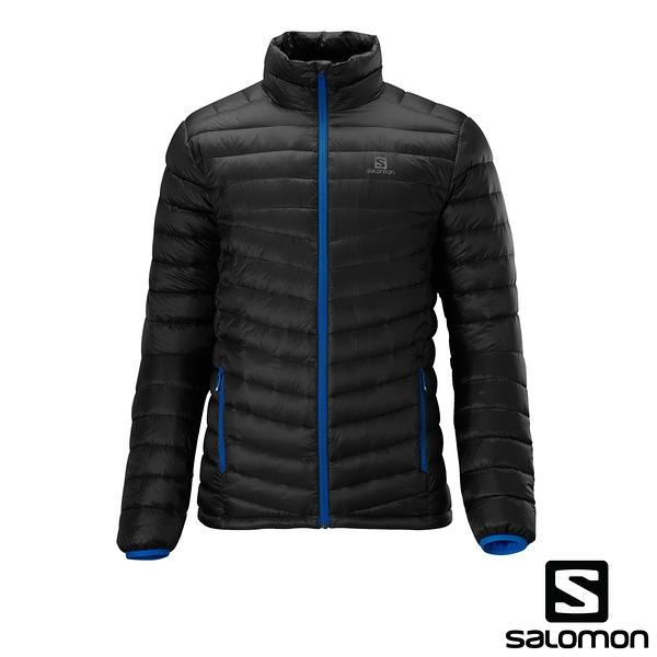 [法國SALOMON] Halo Down Jacket 男性帽羽絨衣夾克(黑) 352374