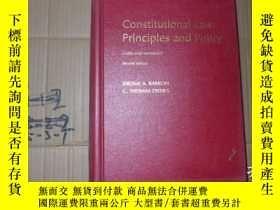 二手書博民逛書店Constitutional罕見Law Principles a