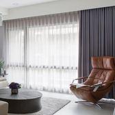 窗簾 遮光北歐落地隔音隔熱布料簡約客廳陽臺臥室窗簾 KB3143【歐爸生活館】