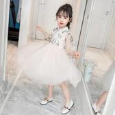 女童連身裙2019新款春夏裝超洋氣兒童唐裝公主裙女孩蓬蓬網紗裙子