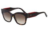 TOD'S 廣告款 貓眼 編織 太陽眼鏡-琥珀色