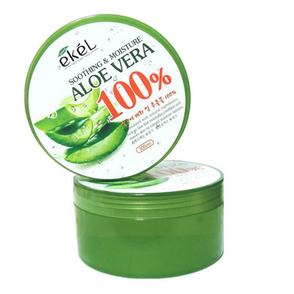 韓國ekel 100% 舒緩保濕補水蘆薈凝膠 300ml《Belle倍莉小舖》