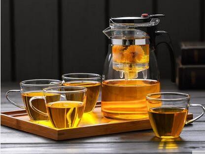 茶具玻璃 T-1000 飄逸杯套裝 茶具茶盤套裝禮盒 玻璃茶具