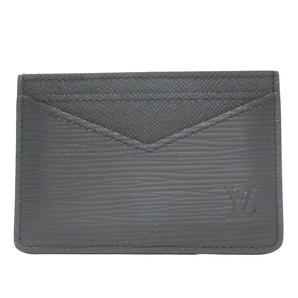 LOUIS VUITTON LV 路易威登 黑色水波紋EPI名片夾 Neo Card Holder M67210   BRAND OFF