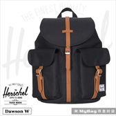 Herschel 後背包 黑色 雙口袋休閒後背包 Dawson W-001 MyBag得意時袋